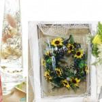 お花の講習会の様子 Part2 ウエルカムボードなどを作りました