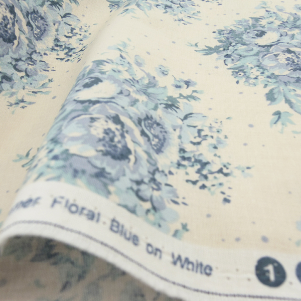 生地 Tilda ティルダ Summer Floral Blue on White 480880