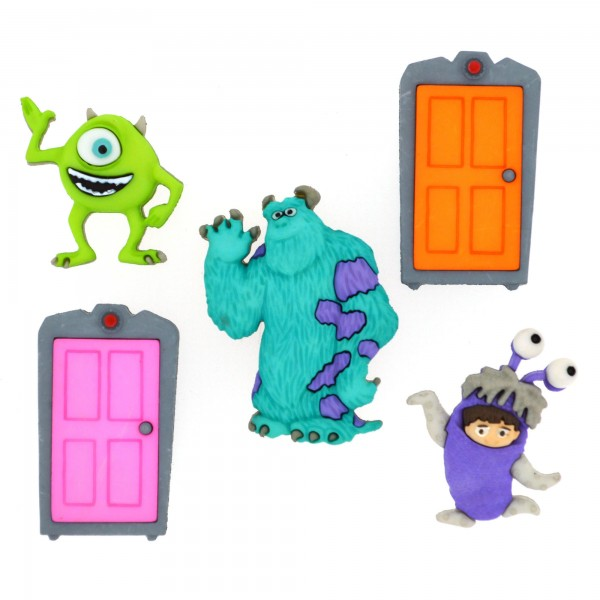 手芸用ボタン Disney 7734 MONSTERS, INC.